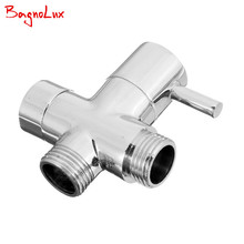 "High Quality Brass Multi Function 3 Way Shower Head Diverter Valve G1/2"" Three Function Switch Adapter Valve For Toilet Bidet(China)"