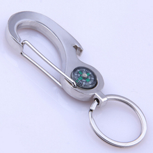 Portable Compass Keychain Compass Waist Hanging Car Key Ring Climbing Outdoor Camping Hiking Key Ring Compass