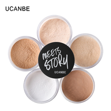 UCANBE Brand Shimmer Matte Loose Setting Powder Oil Free Mineral Translucent Face Powder Palette Silky Skin Finish Powder Makeup