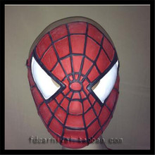 Top Grade 100% Latex Extraordinary Spiderman Mask Spiderman Hood Tights Creative Full Face Halloween Party Mask Free size