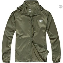 Outdoors Leisure Ultra Light Thin Anti UV Wind Coats Windbreaker Wear-resistant Camp clothes Army green