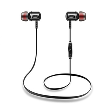 Sport Earphones Wireless Bluetooth In-Ear 4.1 Noise Cancelling Headset Hifi Stereo Mp3 Music Player Metal Earplugs