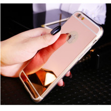 For iPhone 7 6 6S Plus 5 5S 4 4S Electroplating Mirror Flash TPU Case for Samsung Galaxy S3 S4 S5 S6 S7 Edge Plus Note 3 4 5