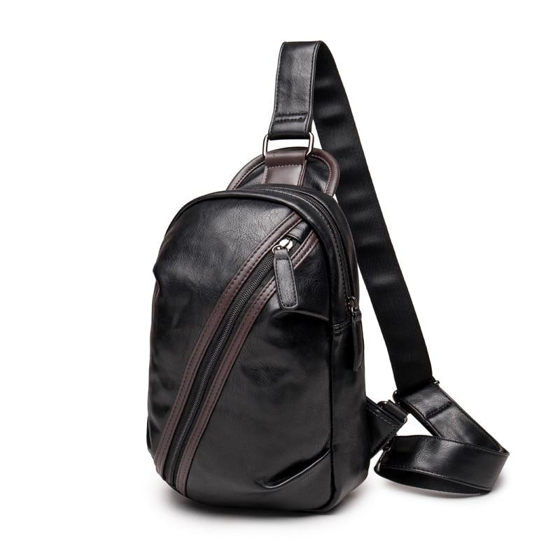 Brand Men Leather Messenger Bag Casual Leather Travel Shoulder Bag Men Chest Bag Small Crossbody Pack Sacoche Homme A0259<br><br>Aliexpress