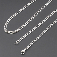 AMUMIU Promotion ! Choose (40-70cm),3mm Width 316L Stainless Steel For Women Men Fashion Figaro Chains Necklace Jewelry KN003