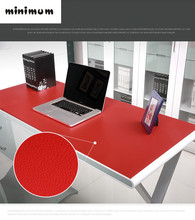 Leather texture Desk case Table mats carpet Computer desk pad PVC desk Thicker table cloth customizable colorful tablecloth(China)