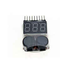 F00872 Lipo Battery Voltage Tester Volt Meter Indicator Checker Dual Speaker 1S-8S Low Voltage Buzzer Alarm 2in1 2S 3S 4S 8S +FS