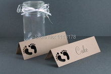 Baby Shower Place Names khaki boy Baby Shower Party table name card Baby Shower Ideas, Favor Gift Tags, Place Cards
