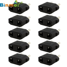 Binmer Mecall New 10PCS US/AU to EU Travel Converter AC Power Plug Power Charger Adapter wholesale