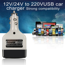 DC 12/24V To AC 220V USB Car Mobile Power Inverter Adapter Auto Car Power Converter Charger Used For All Mobile Phones(China)