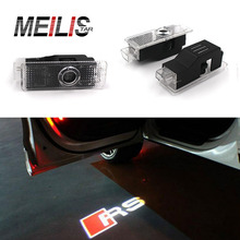 LED Door Warning Light With For audi Logo Projector For Audi A6 C5 A4 B6 B8 80 A1 A8 TT Q7 Q5 Q3 A3 A5 A7 R8 RS S line S3 S4 S5(China)