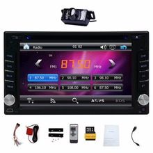 "Upgarde Version With Camera ! 6.2"" Double 2 DIN Car DVD CD Video Player Bluetooth GPS Navigation Digital Touch Screen Car Stereo(China)"
