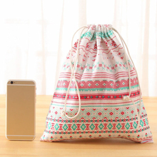 S/M/L Cotton Linen Portable Baby Toys Storage Bags Hanging Drawstring Bag Travel Laundry Lingerie Makeup Luggage Organizer