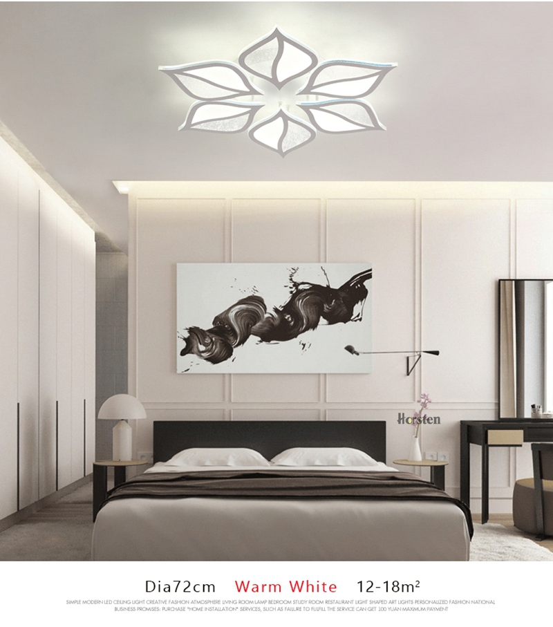 Modern Luxury Crystal LED Ceiling Chandelier Lights With Remote Control Living Room Bedroom Light Acrylic Ceiling Lamp Home Lighting 220V (5)