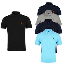 2017 Newest Fashion Mens Polo T-Shirt Collared Cotton Plain T Shirt Solid Printed Formal Short Sleeve Casual Top New Casual Hot