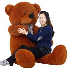 "78"" Giant Teddy Bear 200cm Brown Huge Plush Toy Valentine Birthday Gift 5 Colors Plush Toy(China)"