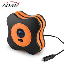 Aozbz DC 12V Portable Car Tire Inflator Auto Air Compressor Tire Pump with Digital Gauge for Car Bicycle Ball Rubber Dinghy(China)
