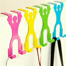 2pcs/lot Cartoon Clothes back door hook Creative convenience household products place hook Clothing racks