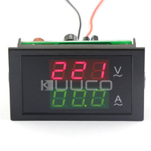 3 Phase 380 Voltage Current Measure Meter AC 200~450V/100A Red/Green display Volt Amp Panel Meter 2in1 + Current Transformer
