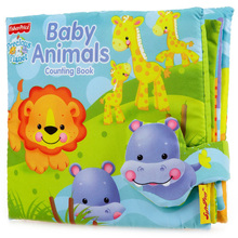 1 piece Fisher Baby Animals counting book number 1 to 10 baby's first book infants educational cognitive learning toy price low(China)