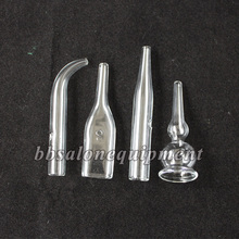 4 Pieces / Set  3 Sets / Lot  Ventouse Attachment Glass Tube For Use With Vacuum Spray Facial Beauty Machine