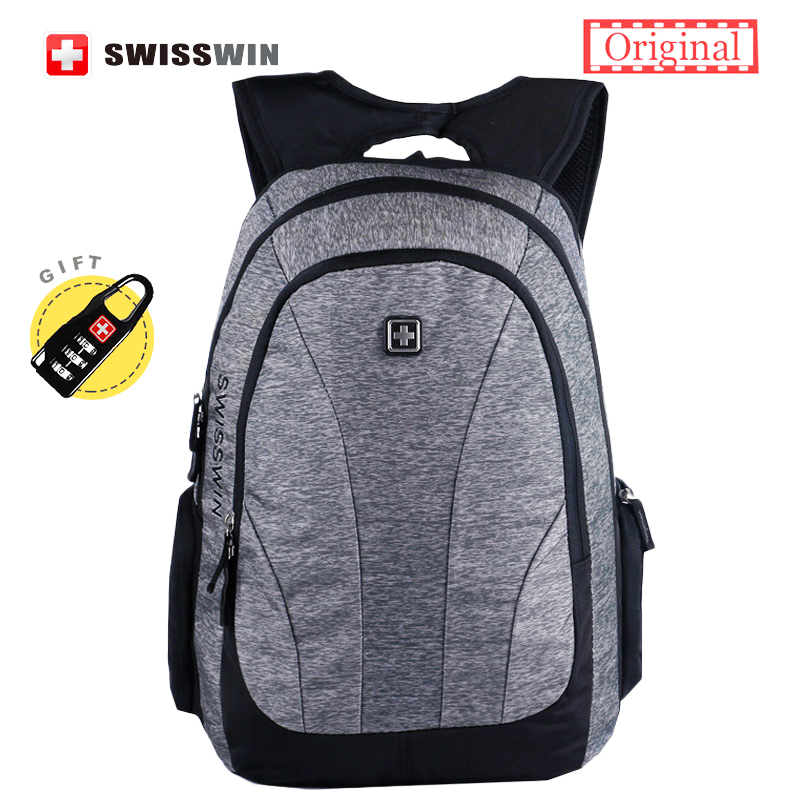 Swisswin Urban Backpack Men Anti Theft Backpack Mochila Cool Backpack For Teenage Boys and Girls Korean and Japan Style Backpack<br>