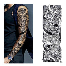 Temporary Tattoo Sleeve Designs Full Arm Waterproof Tattoos For Cool Men Women Transferable Tattoos Stickers On The Body Art(China)