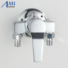 Surface Mounted Brass Shower Faucet Solar Water Heater Mixing Valve Hot And Cold Taps Showers Switch(China)