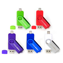 Moweek 2016 Fashion OTG usb flash drive Rotate U disk usb 2.0 pendrive 4G 8G 16G 32G 64G cle usb memory stick for smart phone