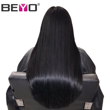 Beyo Pre Plucked Lace Front Human Hair Wigs Malaysian Straight Hair Wig With Baby Hair Non-Remy Hair 8-26 Inch Free Shipping(China)