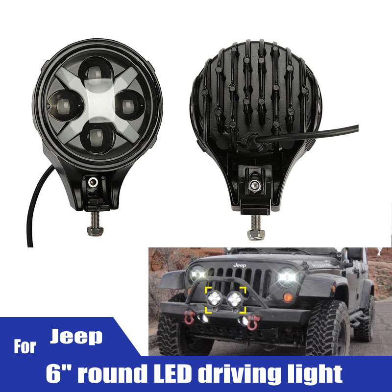 2pcs 6 Car Headlight Cree LED Chips 60W Offroad Driving Working Light Industrial &amp; Construction Recreational lighting<br><br>Aliexpress