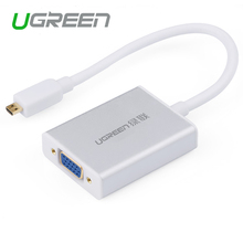 Ugreen Micro HDMI to VGA cable Micro HDMI male to VGA adapter with 3.5mm audio jack & micro USB Cabo HDMI Converter for XBOX PS4(China)