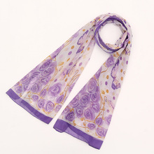 New Novelty Women Rose Designer Wrap Scarf Warmer Adult Butterfly Style STole Fashion Active Dot Printed Foulard Scarves(China)