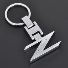 Fashion Metal Car Logo key ring keyring keychain key chain for Nissan qashqai juke almera 240ZX 280ZX 300ZX 350Z 370Z Z Chaveiro(China)