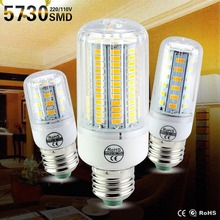 SMD 5730 E27 LED Lamp AC220V 110V  LED Light Corn Bulbs 24/30/42/64/80/108/136LEDs Christmas Chandelier Home Lighting Decoration