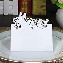 50pcs Lovers Place Name Card Invitation Card Table Name Card Wedding Party Decoration Favor