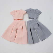 Clothes For 1/6 Blyth Office Lady Style Suit Shirt and Pants 2 Colors Pink & Gray