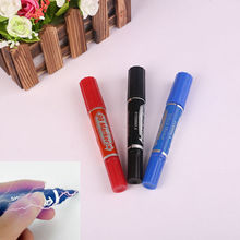 2pcs/set 2017 New Hot Fashion Practical Joke Prank Electric Shock Trick Marker Pen Funny Toy Gift Red Blue Random Picked(China)
