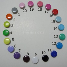 1000Sets 10mm 20 Solid Color Mix Prym Prong Snap Buttons Oeko-Tex 100 Certificate Approve