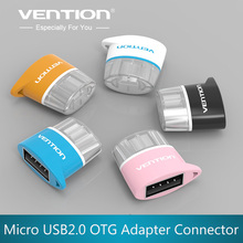 Vention Micro USB To USB OTG Adapter 2.0 Converter For Android Samsung Galaxy S3 S4 S5 Tablet Pc to Flash Mouse Keyboard(China)