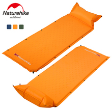 NatureHike Sleeping Mat Mattress Self-Inflating Pad Portable Bed with Pillow Camping Hiking Tent Mats Single Person Foldable(China)