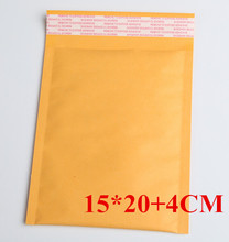 50pcs/LOT 150x240mm Small Manufacturer Kraft bags bubble mailers padded envelopes paper mailer MAILING bag 15*20+4cm