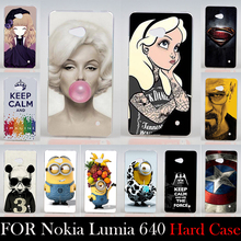 FOR Nokia Lumia 640 Hard Plastic Mobile Phone Cover Case DIY Color Paitn Cellphone Bag Shell  Shipping Free For