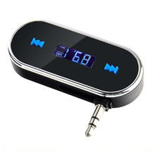 Rechargeable Practical Car Kit Wireless FM Transmitter MP3 Player USB SD LCD Remote Hands free For iPhone Smart Phone #S(China)