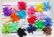 20PCS girls headband korker bow flower hair clip hairband factory sale skinny Elastic slender rubber band hair ties PD013(China)