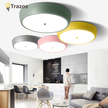 New Macaron ceiling Lights Baby ceiling light with yellow blue red white for boys girls bedroom fixtures lamps for bedroom kids(China)
