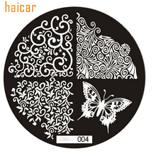 HAICAR Nail Art ColorWomen 1pc Butterfly Pattern Nail Stamping Printing Plate Image Stamps Plate Manicure Nail Art 61104