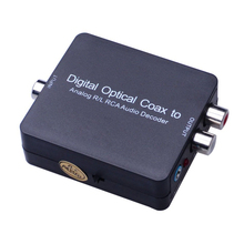 Kebidumei NEW Digital Optical Coax to Analog R/L RCA Audio Decoder For Converting Coaxial Signal To Analog Converter Adapter