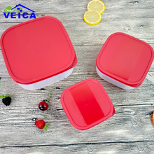 3Pcs/Lot Food Containers Sealed Crisper Refrigerator Fruit Storage Box Preservation Eco-friendly Plastic Kitchen Supplies