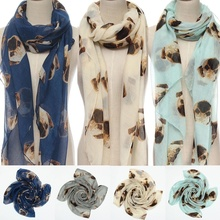 Top Selling New Style Large Scarf Women Winter Warm Animal Pugs Dog Print Wrap Scarf Shawl Stole Pashmina Soft Scarf(China)